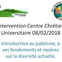 Conférence CCU Introduction au judaïsme