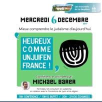 Conférence Heureux comme un juif en France